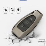 Alu Hartschalen Schlüssel Cover passend für Ford Autoschlüssel  HEK13-F5