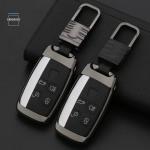 Alu Hartschalen Schlüssel Cover passend für Land Rover Autoschlüssel  HEK13-LR2