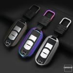Alu Hartschalen Schlüssel Cover passend für Mazda Autoschlüssel  HEK13-MZ1