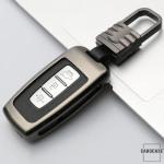 Alu Hartschalen Schlüssel Cover passend für Hyundai, Kia Autoschlüssel  HEK13-D3