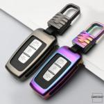 Alu Hartschalen Schlüssel Cover passend für Hyundai Autoschlüssel  HEK13-D3