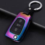 Alu Hartschalen Schlüssel Cover passend für Hyundai Autoschlüssel  HEK13-D5