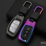 Alu Hartschalen Schlüssel Cover passend für Hyundai Autoschlüssel  HEK13-D6