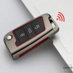 Alu Schlüssel Hülle - Cover für VW Seat Skoda HEK13-V3