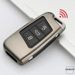 Alu Schlüssel Hülle - Cover für VW Seat Skoda HEK13-V4