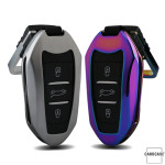 Alu Schlüssel Hülle - Cover für Peugeot HEK13-P2