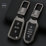 Alu Hartschalen Schlüssel Cover passend für Opel, Citroen, Peugeot Autoschlüssel  HEK13-P3