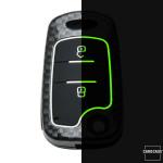 Nachleuchtende Schlüssel Cover passend für Hyundai, Kia Autoschlüssel  HEK20-D5