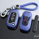 Nachleuchtende Schlüssel Cover passend für Citroen, Peugeot Autoschlüssel  HEK20-P3