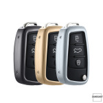 PREMIUM Alu Schlüssel Etui passend für Audi Autoschlüssel  HEK12-AX3