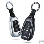 PREMIUM Alu Schlüssel Etui für Peugeot Autoschlüssel HEK12-P3