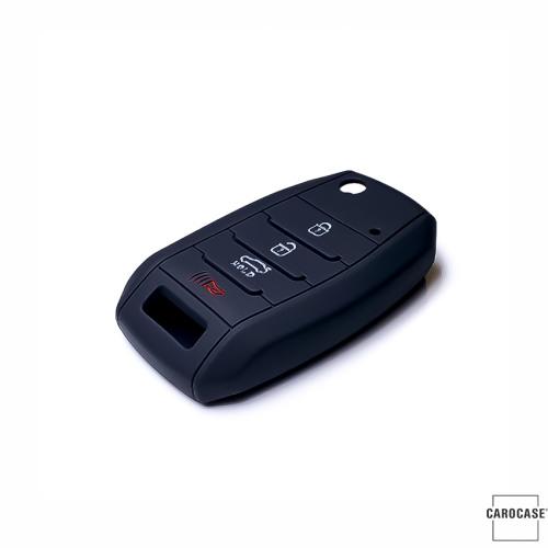 Silikon Schutzhülle / Cover passend für Kia Autoschlüssel K3X schwarz