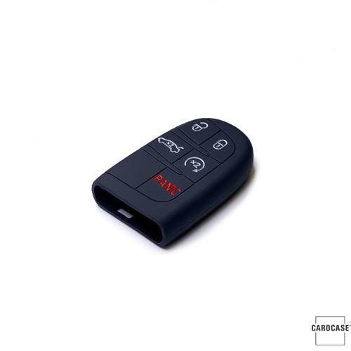 Silikon Schutzhülle / Cover passend für Jeep, Fiat Autoschlüssel J4, J5, J6, J7 schwarz