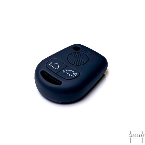 Silikon Schutzhülle / Cover passend für BMW Autoschlüssel B1 schwarz
