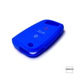 Silikon Schutzhülle / Cover passend für Volkswagen Autoschlüssel V8X, V8 blau