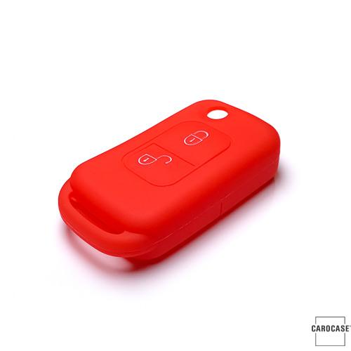 Silikon Schutzhülle / Cover passend für Mercedes-Benz Autoschlüssel M1 rot