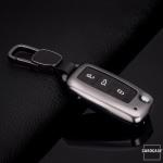 Premium Alu Schlüssel Cover Volkswagen, Skoda, Seat  HEK11-V2