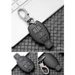 Carbon-Look Hartschalen TPU Schlüssel Cover passend für  Schlüssel schwarz HEK48-M7-1
