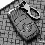 Carbon-Look TPU Cover für Mercedes Schlüssel HEK48-M9-1