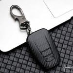 Carbon-Look Hartschalen TPU Schlüssel Cover passend für Toyota Schlüssel schwarz HEK48-T5-1