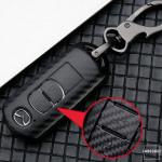 Carbon-Look Hartschalen TPU Schlüssel Cover passend für  Schlüssel schwarz HEK48-MZ1-1
