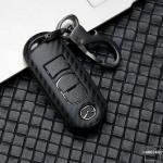 Carbon-Look Hartschalen TPU Schlüssel Cover passend für  Schlüssel schwarz HEK48-MZ2-1