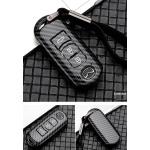 Carbon Look Schlüssel Cover passend für Mazda Schlüssel schwarz HEK47-MZ2-1