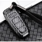 Carbon Look Schlüssel Cover für Audi Schlüssel schwarz HEK47-AX7