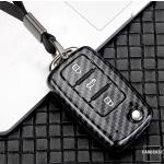 Carbon Look Schlüssel Cover für Audi Schlüssel schwarz HEK47-V2