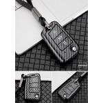 Carbon Look Schlüssel Cover für Audi Schlüssel schwarz HEK47-V3