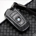 Carbon Look Schlüssel Cover für Audi Schlüssel schwarz HEK47-B4