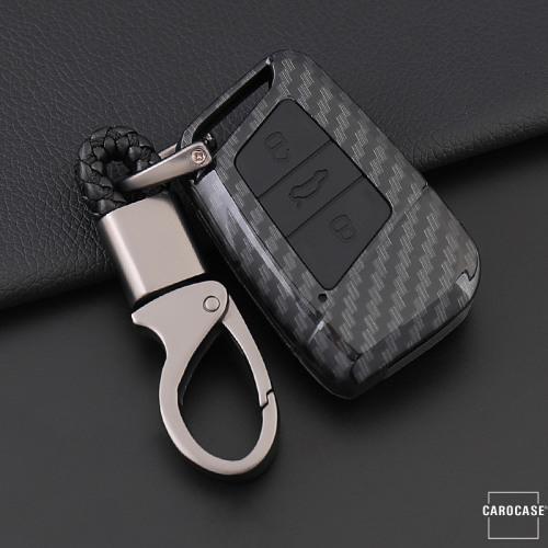Hartschalen Etui Cover passend für Volkswagen, Skoda, Seat Schlüssel schwarz/schwarz HEK33-V4-12