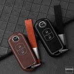 Silikon Alcantara Schutzhülle passend für Mazda Schlüssel + Lederband + Karabiner  SEK12-MZ1