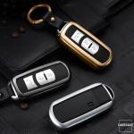 PREMIUM Alu Schlüssel Etui passend für Mazda Autoschlüssel  HEK12-MZ1