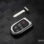 PREMIUM Alu Schlüssel Etui für Jeep Fiat Autoschlüssel HEK12-J4