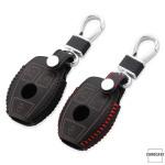 Leder Schlüssel Cover inkl. Karabinerhaken passend für  Schlüssel  LEK37-M7