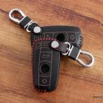 Leder Schlüssel Cover inkl. Karabinerhaken passend für BMW Schlüssel  LEK37-B3