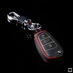 Leder Schlüssel Cover inkl. Karabinerhaken passend für  Schlüssel  LEK37-AX3