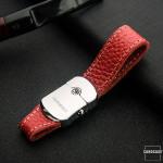 Premium Lederband Schlüsselanhänger mit...
