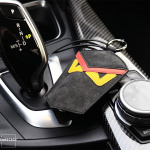 Premium Alcantara Leder Schlüsseltasche  STS6