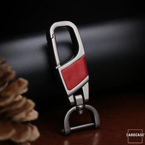 Karabiner Schlüsselanhänger KRB8 anthrazit/rot