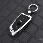 Alu Schlüssel Cover mit Silikon Tastenabdeckung...