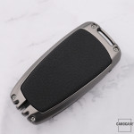 Alu Schlüssel Cover mit Silikon Tastenabdeckung passend für Ford Autoschlüssel  HEK37-F9