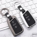 Schlüssel Cover mit Silikon Tastenabdeckung passend für VW Autoschlüssel HEK37-V4