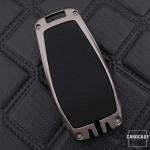 Schlüssel Cover mit Silikon Tastenabdeckung passend für Mercedes-Benz Autoschlüssel HEK37-M9