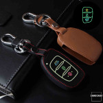 Luminous glow leather key case/cover for Hyundai car keys
