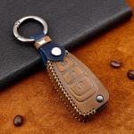 Premium Leder Cover passend für Ford Schlüssel + Anhänger  LEK60-F4