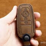 Premium Leder Cover passend für Ford Schlüssel + Anhänger  LEK60-F9