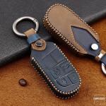 """Premium Leder JEEP/FIAT Autoschlüssel Cover """"TEXAS"""" LEK63-J6"""