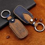 Premium Leder Cover passend für Land Rover, Jaguar Schlüssel + Anhänger  LEK60-LR2